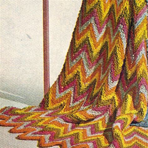 ripple afghan knit pattern knitted ripple afghan pdf pattern