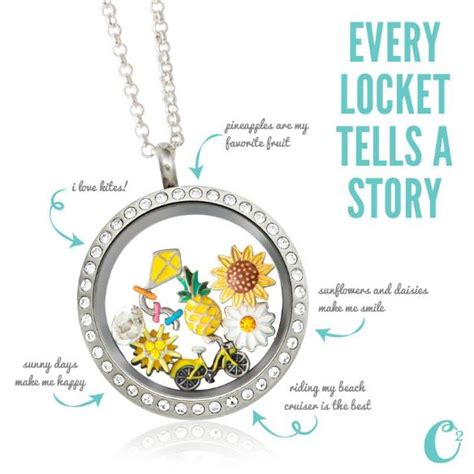 origami owl large silver locket with crystals summer themed origami owl living locket large silver