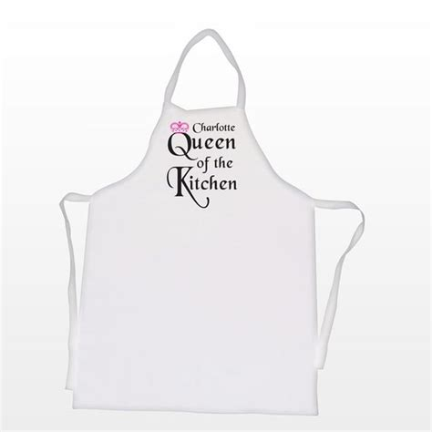 First Home Housewarming Gift queen of the kitchen personalised apron find me a gift