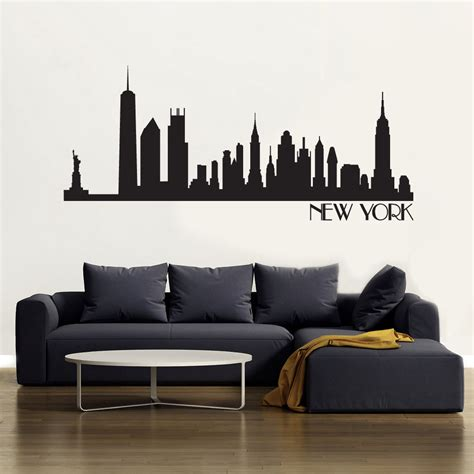 new york skyline wall sticker new york skyline wallsticker fra kun 229 kr