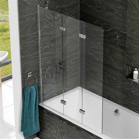 shower baths uk with screens kudos inspire 3 panel bath screen uk bathrooms