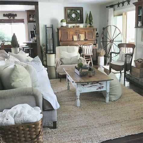 Farmhouse Livingroom farmhouse living room at home on sweetcreek decoration