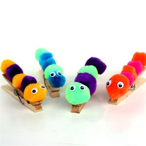 caterpillar crafts for simple caterpillar craft glue pom poms and