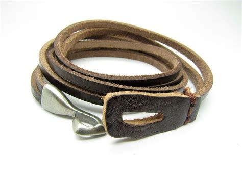 leather for jewelry brown leather with alloy hasp buckle s leather cuff