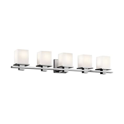 chrome bathroom vanity lights shop kichler lighting 5 light tully chrome bathroom vanity