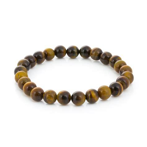 tiger eye bead bracelet yellow tiger eye bead 7 189 inch stretch bracelet 1 pc