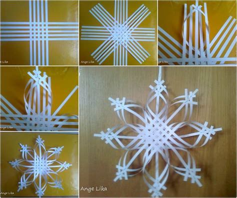 snowflake paper craft creative ideas diy 3d paper snowflake ornament