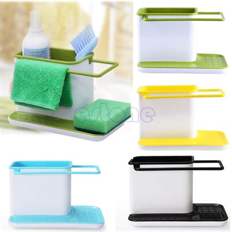 kitchen sink caddy organizer plastic multifunction racks kitchen sink utensils holders