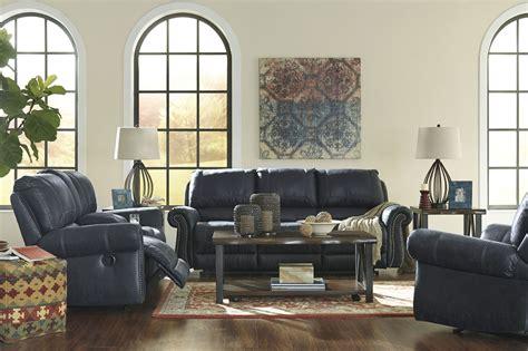 reclining living room set milhaven navy reclining living room set 6330488