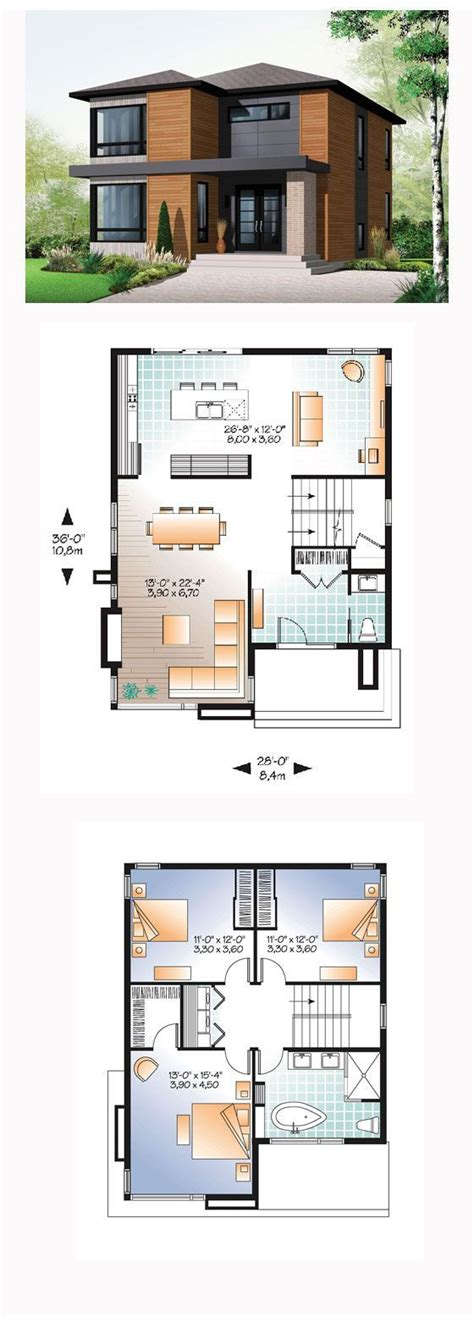 modern house with floor plan 25 best ideas about modern house plans on