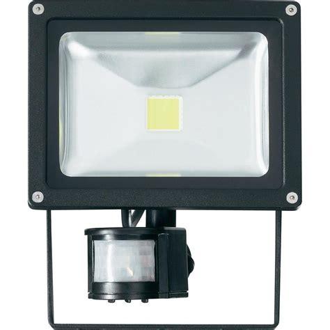 projecteur led ext 233 rieur avec d 233 tecteur de mouvements 20 w blanc froid noir sur le site