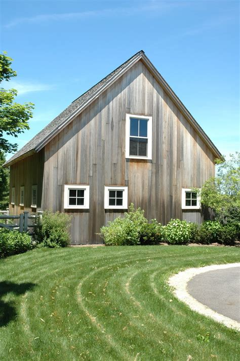 rustic wood siding Garage And Shed Farmhouse with a frame barn exterior barn   beeyoutifullife.com