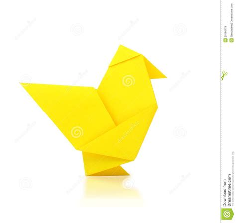 origami chicken origami chicken royalty free stock images image 29166179