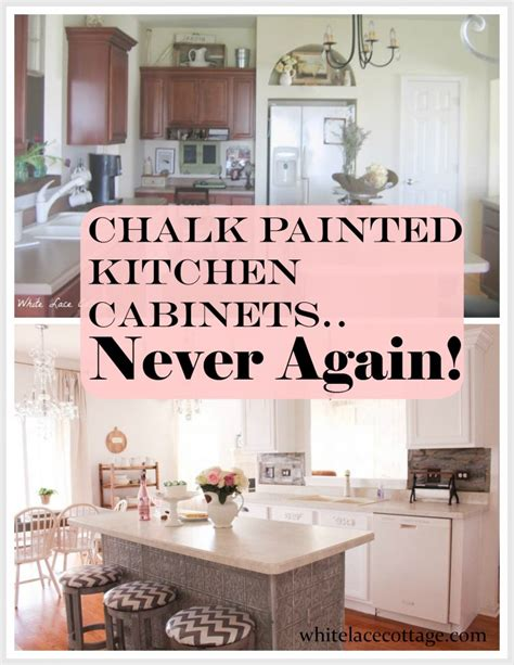 chalk paint kitchen cabinets tutorial chalk painted kitchen cabinets never again white lace