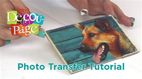 decoupage photo transfer decoart decou page photo transfer medium