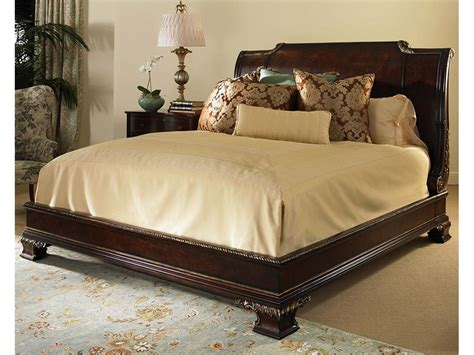 wood bed frames with headboard wood king size bed frame with curved headboard decofurnish