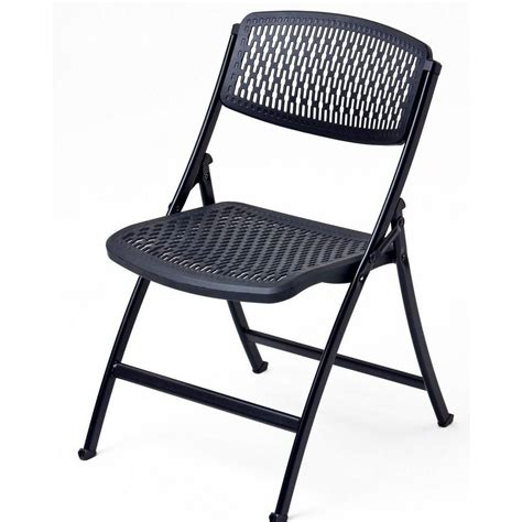 folding chairs hdx black folding chair 2ff0010p the home depot