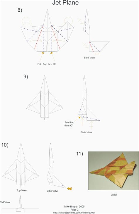 how to make origami jet mikes origami