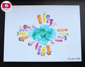 around the world crafts for earth day handprints around the world kindergarten