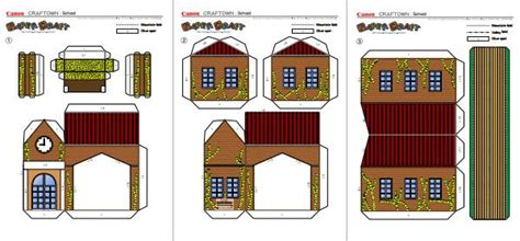 paper craft buildings papermau school building papercraft for by canon