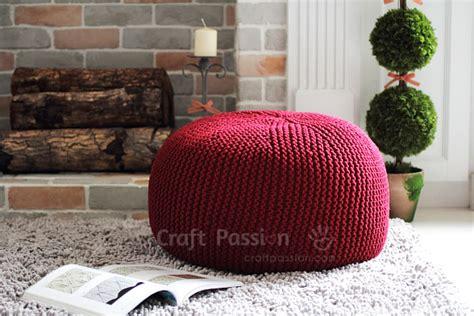 pouf pattern knit pouf knitting pattern free craft