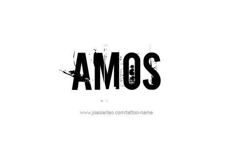 amos name tattoo designs