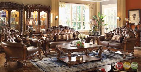 wood living room set vendome traditional wood formal living room sets w