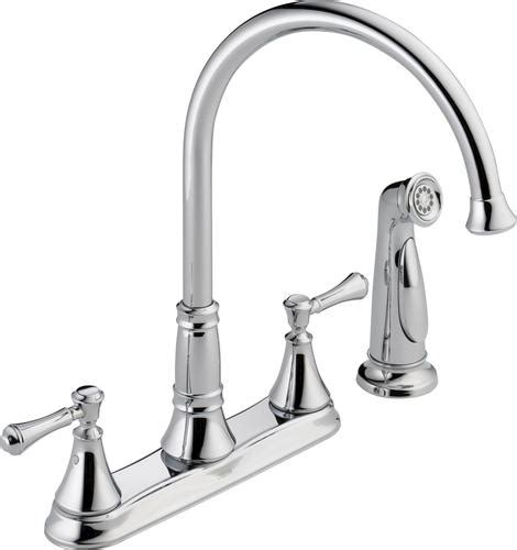 Kitchen Faucets At Menards delta 174 cassidy 2 handle side sprayer kitchen faucet at