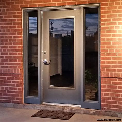 steel glass panel exterior door commercial metal doors with steel lite kit and glass