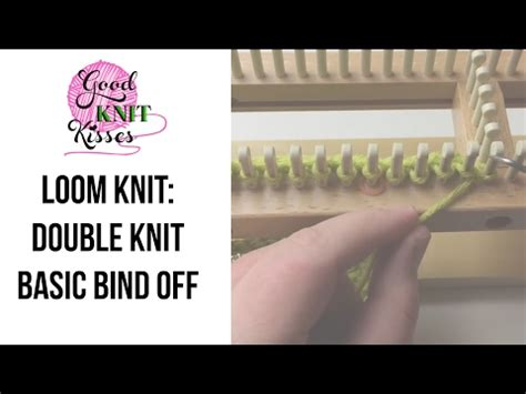 binding knitting loom loom knit knit basic bind or finish scarf no