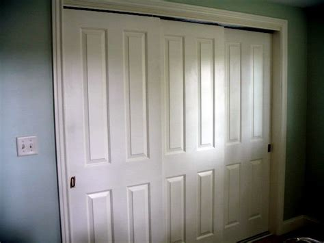 3 door closet sliding doors 3 sliding closet doors jacobhursh