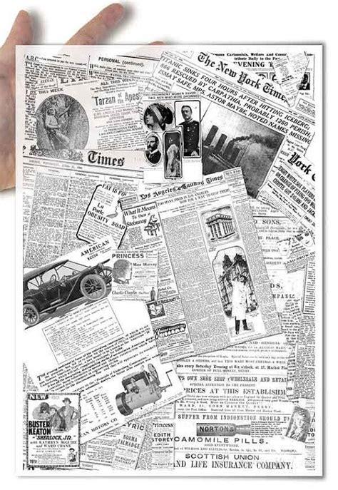 decoupage newspaper decoupage softpapier soft papier collage aus alten