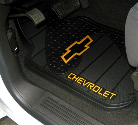 Chevy Cruze Floor Mats by Chevrolet Bowtie Factory Molded Trim To Fit Front Floor