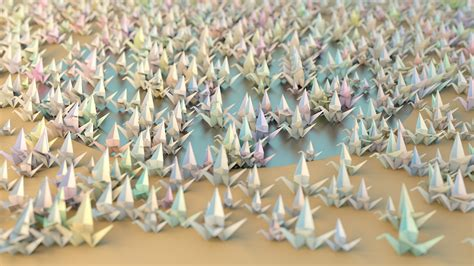 thousand origami cranes wallpaper 1000 origami cranes by hoschie on deviantart