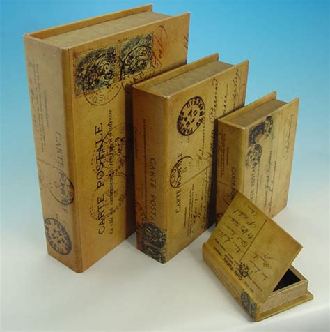 wooden book boxes wooden book box vintage postal set gifts ideas for