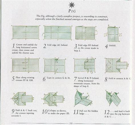 origami pig dollar origami center origami diagrams