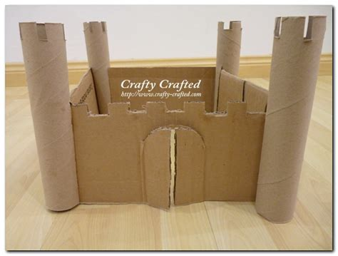 toilet paper roll castle craft crafty crafted crafts for children 187 corrugated paper