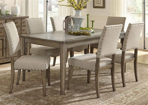 casual dining tables and chairs casual rustic 7 dining table and chairs set by