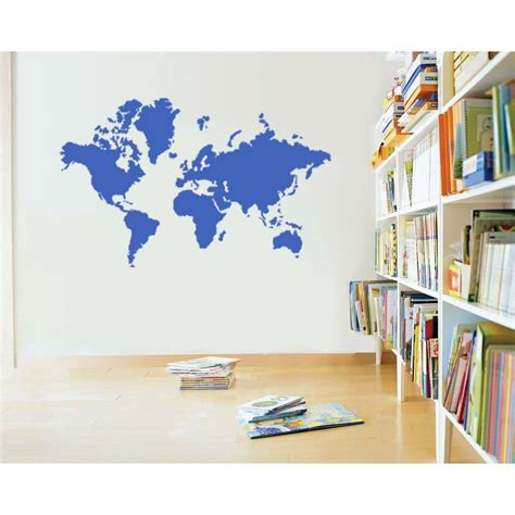 large world map wall sticker large world map vinyl wall sticker decal decals