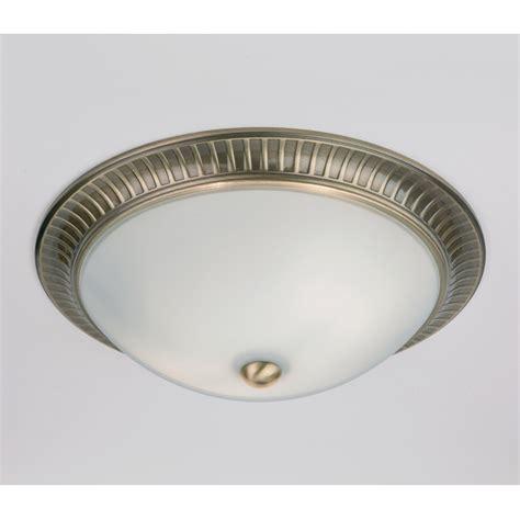 flush lights ceiling endon 91123 2 light flush ceiling light antique brass