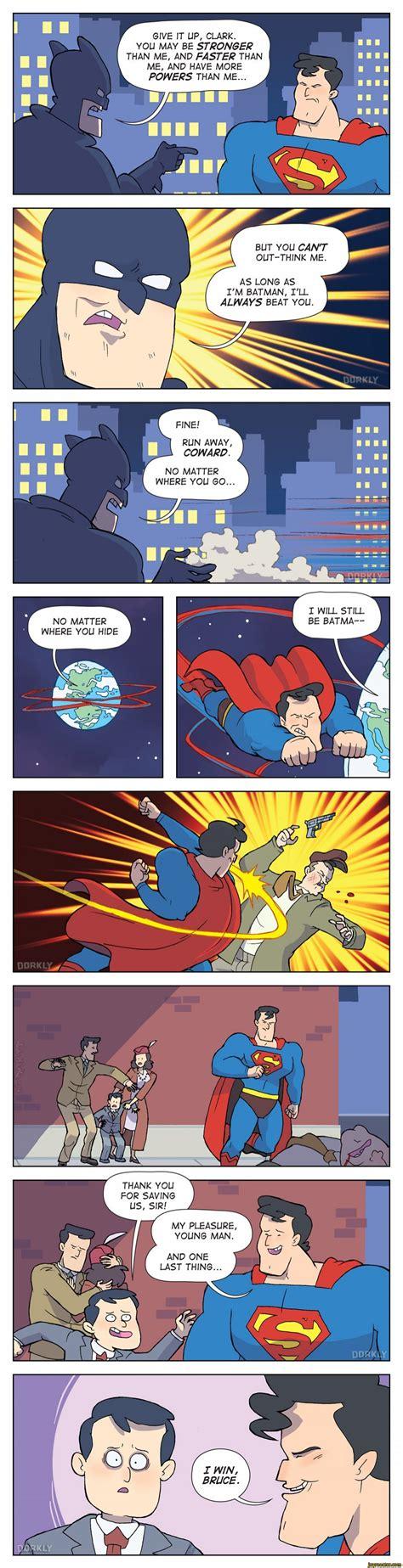 comics vs i win bruce superman batman dorkly dc comics