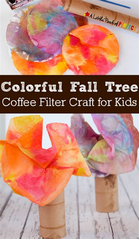 coffee filter crafts for colorful fall tree coffee filter craft for easy to
