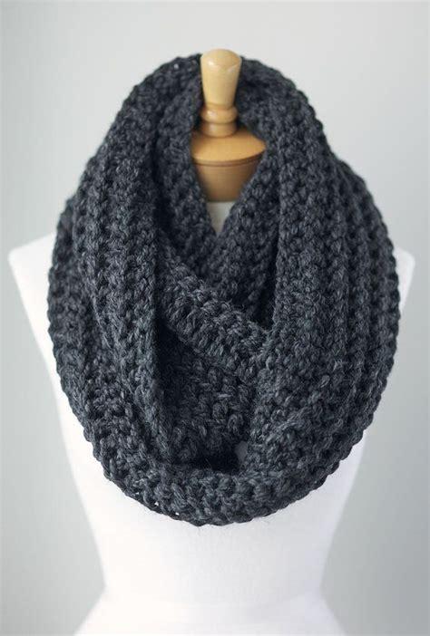infinity scarf chunky gray infinity scarf grey eternity scarf