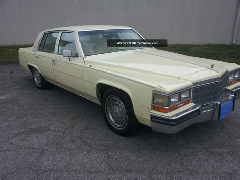 1984 Cadillac Sedan 1984 cadillac sedan de ville
