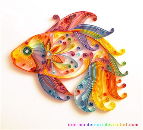 paper craft quilling quilling fish by usokei