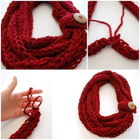 finger knitting a scarf diy crochet scarf pictures photos and images for