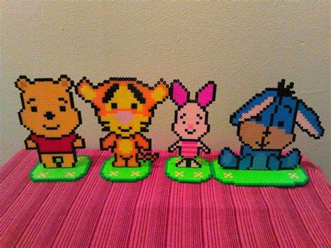 perler piglet perler pooh and friends by fluffyrosey on deviantart