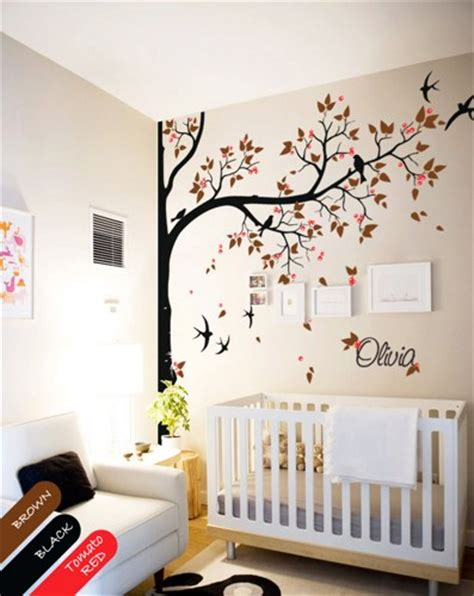 personalized nursery wall decals personalized corner tree wall decal decor nursery mural