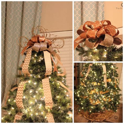 how to make tree bows tree decorating tutorial with bow topper