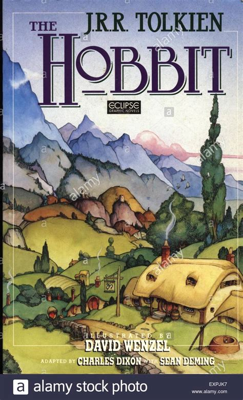 pictures by jrr tolkien book 1990s uk the hobbit by jrr tolkien book cover stock photo